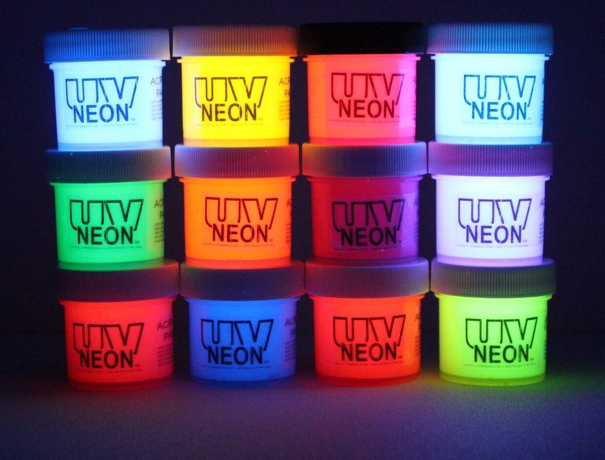 Neon Acrylic Paint, Theatre, Dance, Rave, Blacklight Art, MA