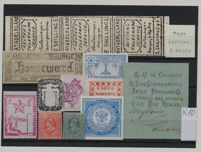 World - Local issues - unsorted lot of  FORGERIES #k10