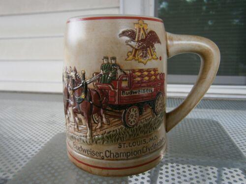 Vintage Budweiser Champion Clydesdale Beer Stein Mug Ceramarte