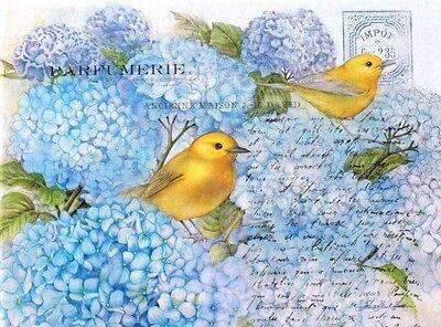 Crown Point Graphics Yellow Bird Single(1) Note Card w/White Env - Hydrangeas