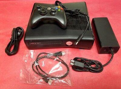 Microsoft Xbox 360 S Slim 4GB Matte Black Video Game Console System Gaming 360S