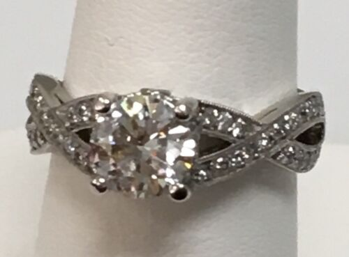 Platinum Engagement Ring Diamond 1.01ct H/SI1 GIA Certificate Size 5.75