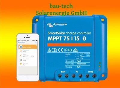 Victron Smartsolar MPPT Laderegler 75/15 15Amper 12V oder 24V inklusiv Bluetooth ()