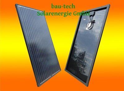 130w Solarpanel (130W 130Watt 12Volt 12V Solarmodul Solarpanel Monokristallin Full Black Schwarz)