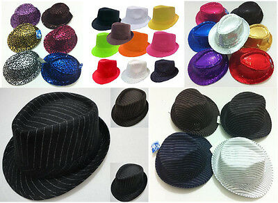 FEDORA HAT TRILBY GANGSTER CUBAN STYLE  HAT MENS WOMENS - MANY - Fedora Style Hats