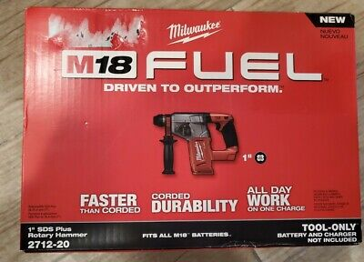 Milwaukee 2712-20 M18 Fuel 1 Sds Plus Rotary Hammer Tool Only Nib