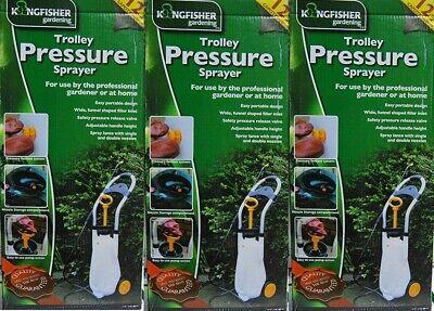 KINGFISHER Sprayer Pressure TROLLEY 12L  Wheeled Sprayers PROFESSIONAL Gardener
