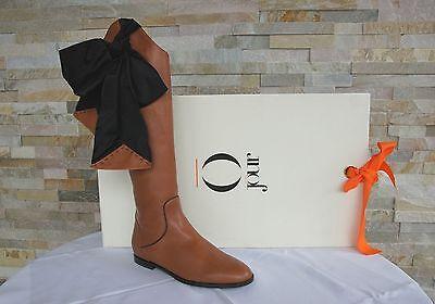 O JOUR Talla 38 Botas Stivali Zapatos Varenne Marrón Nuevo Antiguo