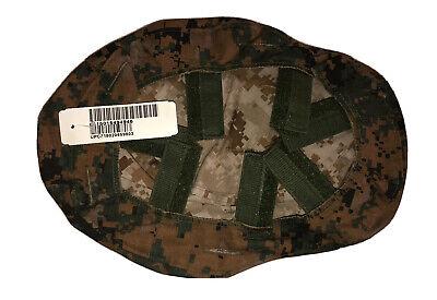 Authentic USMC LWH Marine Corps Reversible Helmet Cover MARPAT ECH ACH New M/L Marine Corps Helmet