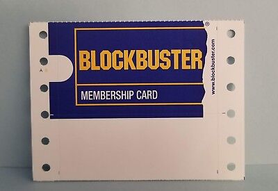 ONLY 1 NEW ORIGINAL BLOCKBUSTER VIDEO MEMBERSHIP CARD SEE DETAILS