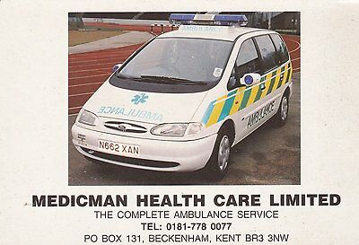 Medicman Health Care Ford Galaxy Postcard