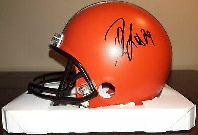 c8a4fbe6ce2e Duke Johnson Jr Cleveland Browns Autographed Signed Riddell Mini Helmet  PROOF
