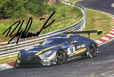 Bernd Schneider AMG Mercedes GT3 VLN Nürburgring 2015 Top MIB-Karte 10x15