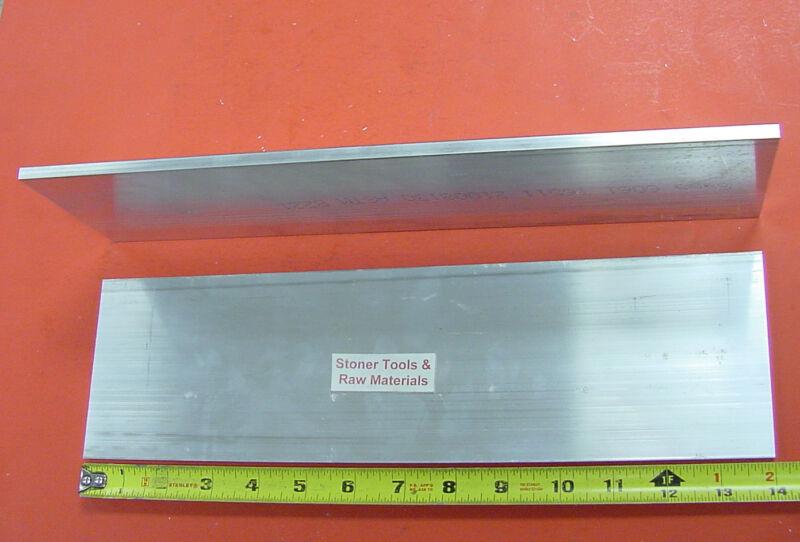 "2 Pieces 1/4"" X 4"" ALUMINUM 6061 T6511 FLAT BAR 14"" long Plate Mill Stock .25"""
