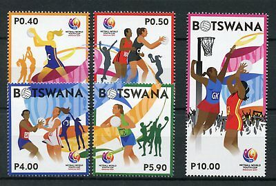 Botswana 2017 MNH Netball World Youth Cup Gaborone 5v Set Sports Stamps