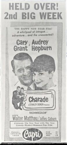 "1964 Movie advertisement - ""Charade"" - Original"