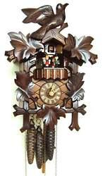 (New!) 30-Hour 5-Leaf Dancers Balcony Musical Cuckoo Clock Anton Schneider