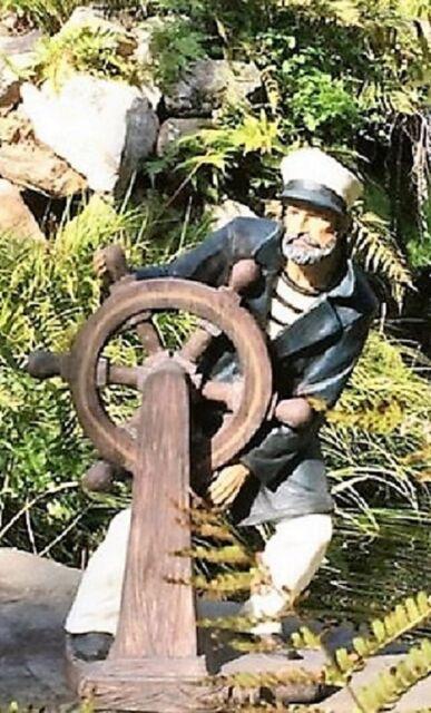 Outdoor Garden Statues Sea Captain Unique Nautical Coastal Yard