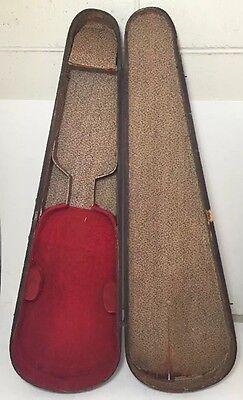 Black Antique Vintage Wood Violin / Fiddle Case