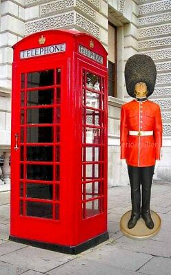 London Telephone Booth Full Size Iron For Outdoor and Indoor Display