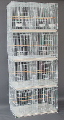 "Lot of 4 Large 30"" Breeding Breeder Canaries Budgies Bird Cages W/Divider 169"