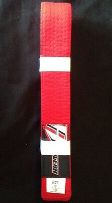 Revgear Solid Rank Belts (Red, 0) Karata / Jiu-Jitsu / Judo / Kung Fu Belt