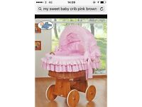 My sweet baby pink cot