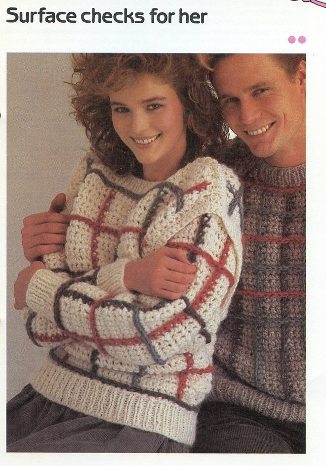 2e8355f5bbe2a7 Women s Surface Checks for Her Sweater Cavendish Crochet PATTERN ...