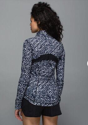Lululemon Define Jacket  Size 10 Black & White Print