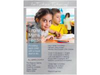 In-Tuition Tutoring Half Term Monday 23rd Oct - 27th Oct £10 per session