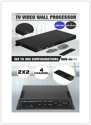 3x3 TV9/4 9 Channel Video Wall Controller HDMI Outputs processor Channel Outputs