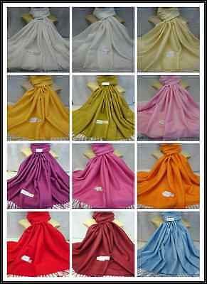 WHOLESALE 35PCS $3.00 EACH PLAIN SOLID PASHMINA ALL SEASON WRAP SCARF