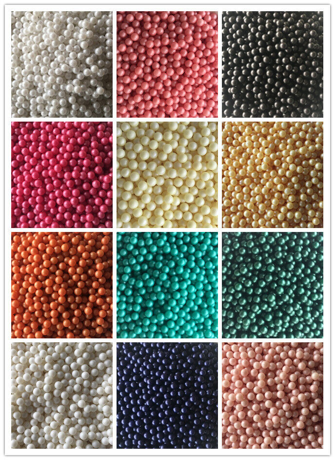 Wholesale 500pcs 4mm Acrylic Pearl Round Spacer Loose Beads Lake blue colour