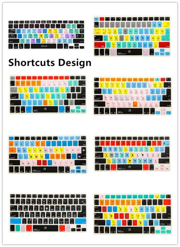 Functional Shortcut Printed Keyboard Cover Skin