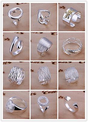 Wholesale Price 925 Silver Fashion Jewelry Men Women Fashion Ring Size Open