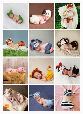Imitated animal costumes for newhorns knit baby photography props infant outfits - Baby Animal Costumes