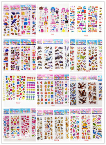 3D Puffy Scrapbook Kids Party Favors Crafts stickers lot-Tea