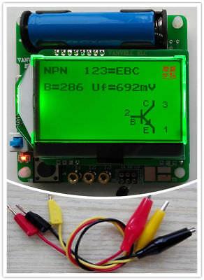 New M328 Transistor Tester Lcr Capacitance Esr Meter Usb Charging W Test Clip