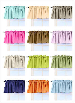 Aiking Home Faux Linen Semi-Sheer Window Valance, Size 56'' x 16'', (1 (Home Linen)