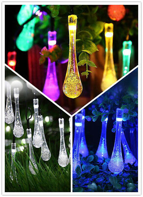 20/50 LED Solar String Fairy Lights Outdoor Halloween Party Xmas Tree Waterproof