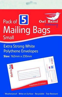 Pack of 5 StorePAK Quality Large Postal Bubble Bags 335 x 230mm