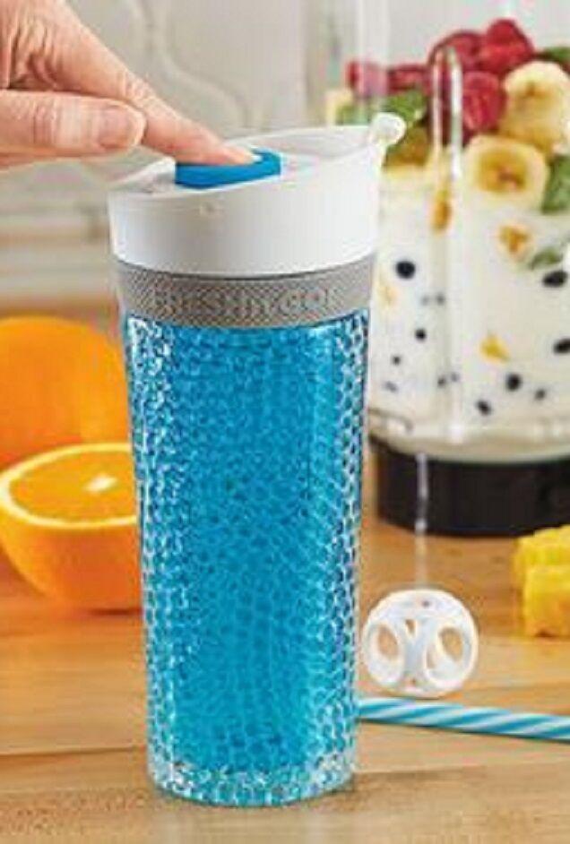 Asobu PUMP N CHILL an AIR TIGHT Double Gel Walled Vacuum Insulated Tumbler 15 oz Home & Garden