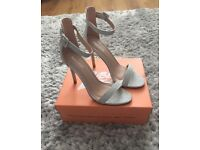 Public Desire silver strappy shoes size 7