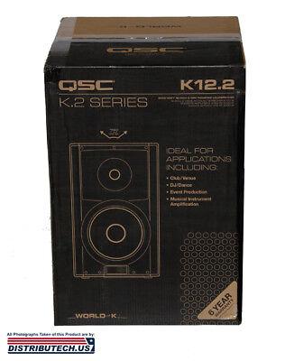 "QSC K12.2  2000 WATT 12"" 2-Way Active Powered Speaker BRAND NEW SERIES K12.2 NEW"