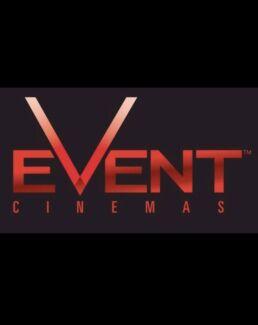 Events cinema movie e- ticket / voucher $7