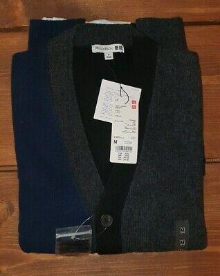 Uniqlo x J.W. Anderson Premium Lambswool Cardigan Dark Grey - Medium