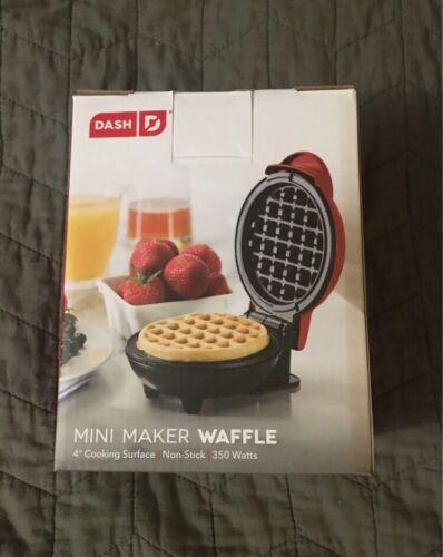 mini waffle maker waffle iron red new