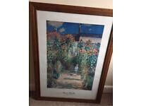 Claude Monet print large picture frame