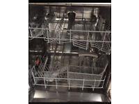 Free standing full sized dishwasher