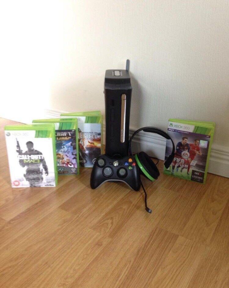 Xbox 360 +games+Kinect+head set